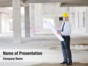 Business construction project man architect