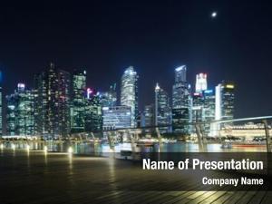 Cityscape prosperous urban night