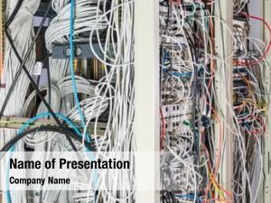 Rack server room tangled network