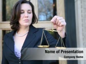 Holding business woman justice scale