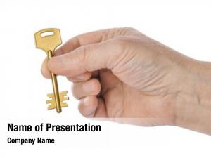 Key hand gold white
