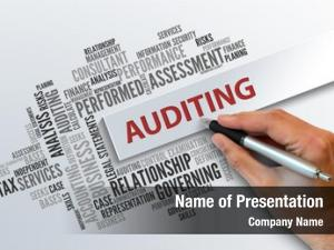 Abstract auditing business concept