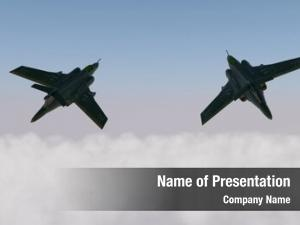 Aircraft pair military above clouds