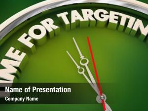 Customer time targeting marketing clock
