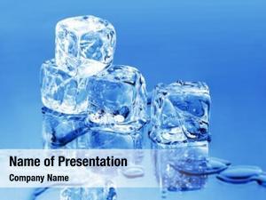 Cubes melting ice