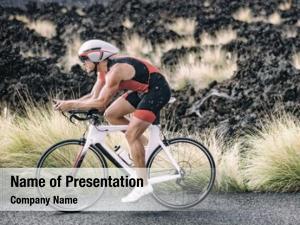 Biking triathlete