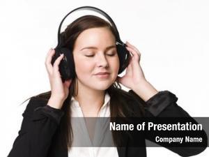 Music girl listen