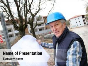 Construction architect drawing site