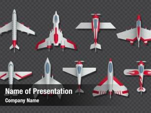 Aircraft airplanes military top view