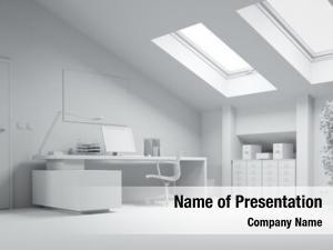 Loft white study computer desk