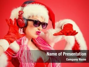 Christmas awesome sexy girl headphones