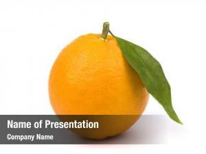 Orange fresh ripe fruit green
