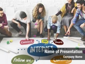 Social internet community media concept