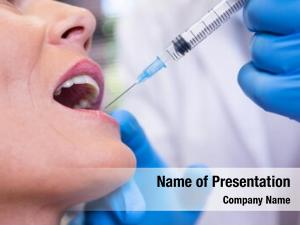 Cropped of dentist powerpoint template