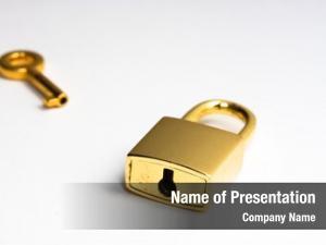 Near golden key lock