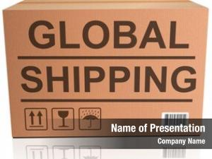 Web global shipping shop icon