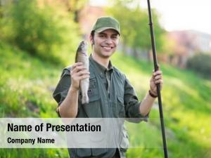 Fisherman holding a fishing