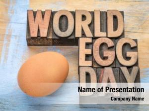 World egg powerpoint template