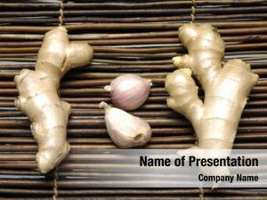 Garlic ginger root bamboo mat