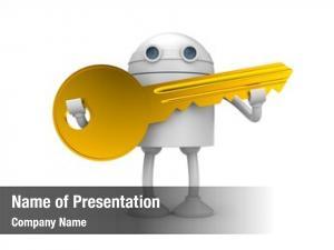 Key robot gold