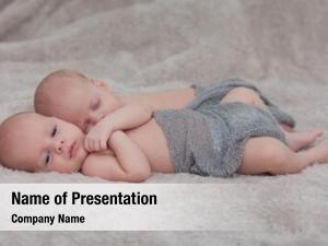 Twins cute little