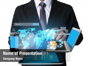 Tablet businessman using social connection,conceptual