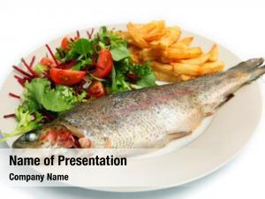 Trout grilled rainbow served french