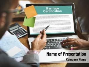 Wedding marriage certification ceremony love
