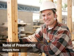 Construction friendly, smiling worker job