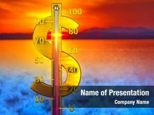 Concept dollar thermometer