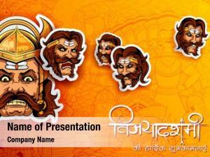 Raavana with ten powerpoint theme