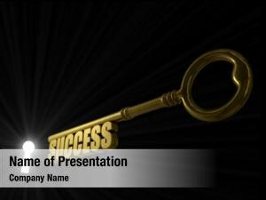 Success key word pointed illuminated