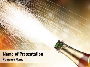 Explosion close up champagne