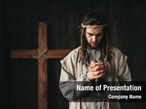 Praying jesus christ bible hands