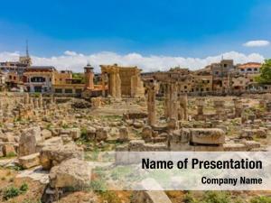 Baalbek romans ruins beeka valley