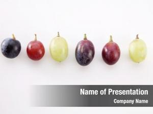 Grape different color arrange row
