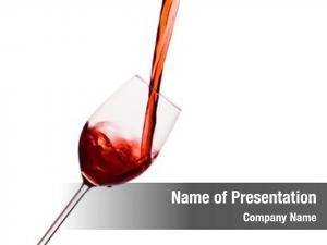 Wine glass red peppy empty