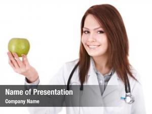 Stethoscope medicine doctor green apple