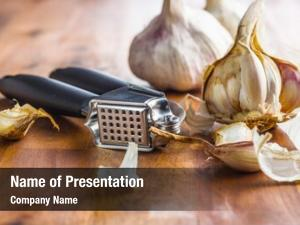 Garlic fresh garlic presser wooden