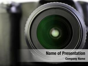 Close up of camera powerpoint theme