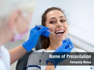 Patient female dentist dentist office