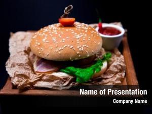 Beef, burger marble fork knife