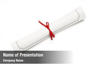 Scroll graduation diploma