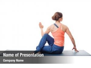 Fit beautiful sporty yogini woman