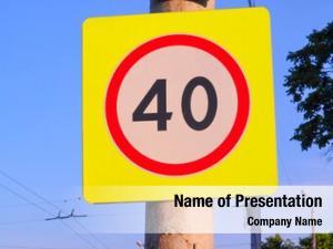 Sign speed limit