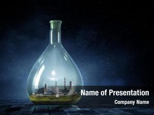 Inside energy plant glass bottle