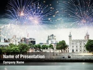 Celebration fireworks riverside new year