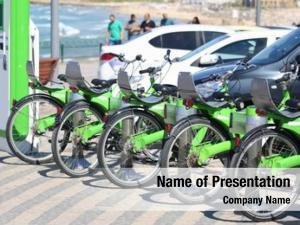 Steering wheel bicycle parking rental