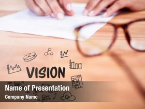 Vision digital composite text person