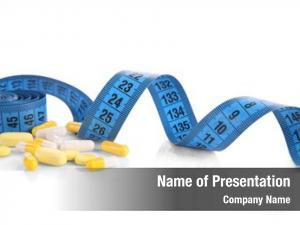 Pills measuring tape white